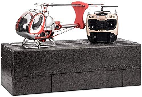 WEIFLY RC Helikopter, Ferngesteurter Helicopter,RC Hubschrauber 2,4 GHz 9 KanalFernsteuerung, einfach zu fliegen, Gyro, stabiles Chassis, LED-Beleuchtung,Rot,6batteries