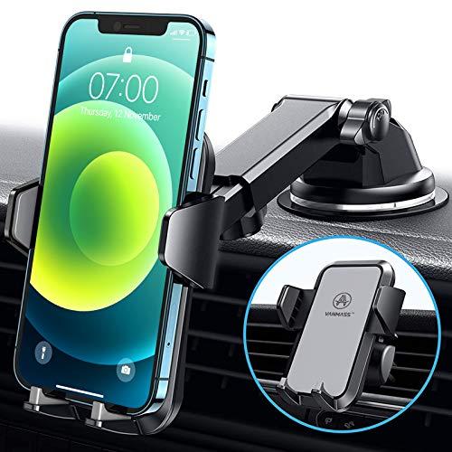 VANMASS Handyhalterung Auto 3 in 1 Lüftung & Saugnapf Stabil 100{5ca7233db4ade9d4d78d2c24f0ac77a14ac1ca8b0e017f439f1b7d4537a8cb42} Silikonschutz Handyhalter Fürs Auto Universale Kfz Handyhalterung 360°Drehbar Autohalterung Für Alle Handy iPhone Samsung Huawei LG
