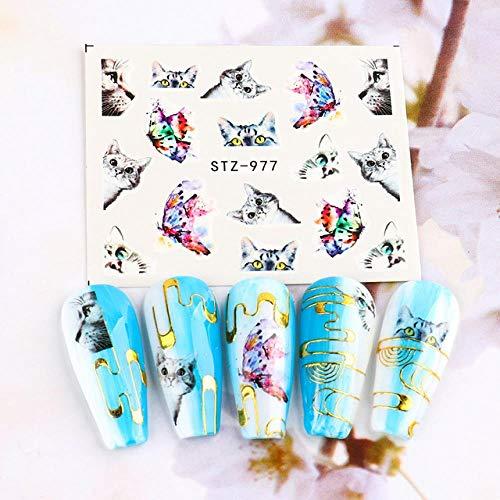 BGPOM Nail Watermark Sticker Couleur Butterfly Nail Sticker Nail Watermark Decal 10 pièces/Ensemble, STZ-977