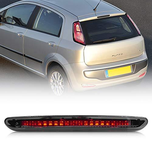 NSLUMO 1 Stück Geräucherte Linse Rote LED Dritte Bremsleuchte Heckscheibe Jet Düse Bremsleuchte Für Fiat Punto Grande Abarth Evo OEM 2122000407