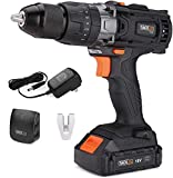 TACKLIFE Cordless Drill Driver,18V 2.0Ah Combi Drill Sets with LED Light, 2 Speed 16 3 Torque Hammer Drill,35N.m Electric Screwdriver 1/2