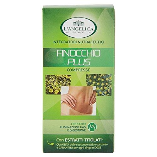 L'Angelica, Integratore Alimentare Sgonfiante a Base di Finocchio, Favorisce l'Eliminazione dei Gas, Digestione e Regolare Mobilità Gastrointestinale, Senza Lattosio, Vegan, 75 Compresse