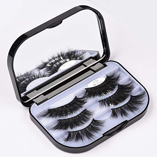 3 Pairs Pack Long Thick Dramatic Look Handmade False Eyelashes Extension For Makeup Faux 3D Mink Lashes Multipack soft