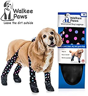 Walkee Paws Waterproof Dog Leggings - Keep Your Dog's Feet Clean and Dry Without The Hassle of Boots - Confetti Color