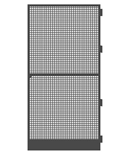 Schellenberg 70065 Insektenschutz-Tür Premium 120 x 240 cm Fliegengitter Tür mit Rahmen für Balkontüren und Terrassentüren
