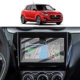 SHAOAHO - Protector de pantalla para navegación de coche Suzuki Swift/Swift Sport de 7 pulgadas, GPS, PET, transparente, antiarañazos, antihuellas, 2 unidades