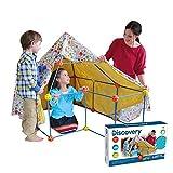 Discovery - Bauen Sie Ihre Hütte, Baustellen, Kinderzelte, Häuschen für Kinder, Spielzeughaus, Blau, Orange und Gelb (6000105)