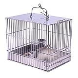 ZTMN Gabbia per Uccelli Gabbia per Uccelli in Acciaio Inossidabile Gabbia per Il Bagno Gabbia per Il Trasporto Esterna Gabbia per pappagalli Pappagallo