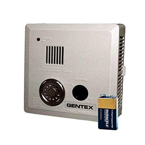Gentex 913T Smoke Alarm, 9V Battery Powered Photoelectric w/T3 Horn & Integral Heat Alarm (909-0134-002)
