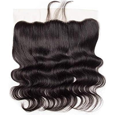 Body wave Bundles with Frontal Closure Human Hair Bundles Lace Closure Brazilian Virgin Hair 8A Body Wave Natural Black Color