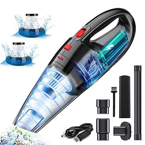 uomio Handheld Vacuum Cordless, Mini Hoover Car Vacuum Cleaner, 120W Hand...