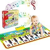 WOSTOO Alfombra para Piano, Alfombra de Teclado Táctil Musical Touch Juego Musical Portátil Electrónico Educativo Musical Tapete de Piano Teclas para Bebé, Niño, Niña Regalo