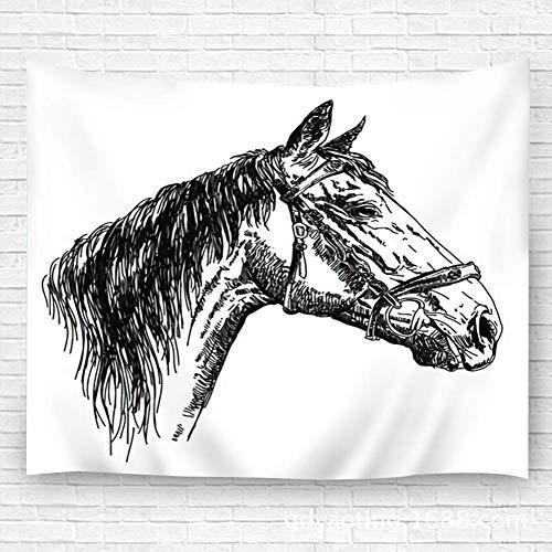 WKLNM tapijt muur opknoping tafelkleed strand handdoek deken paard hoofd in Profil met hoofdstel Tapestry Dorm kamer slaapkamer woonkamer 39.4