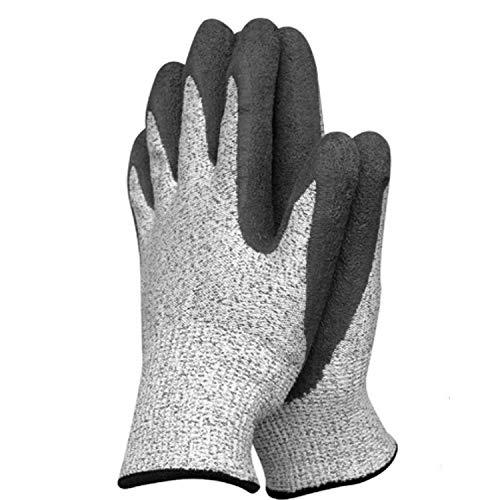 SGJFZD Guantes de Trabajo, diseño de Moda de Caucho Texturizado Palma de nitrilo sumergida/recubierta para la construcción, para Hombres X-Large (Size : S-7(7.87 in), UnitCount : 2 Pairs)