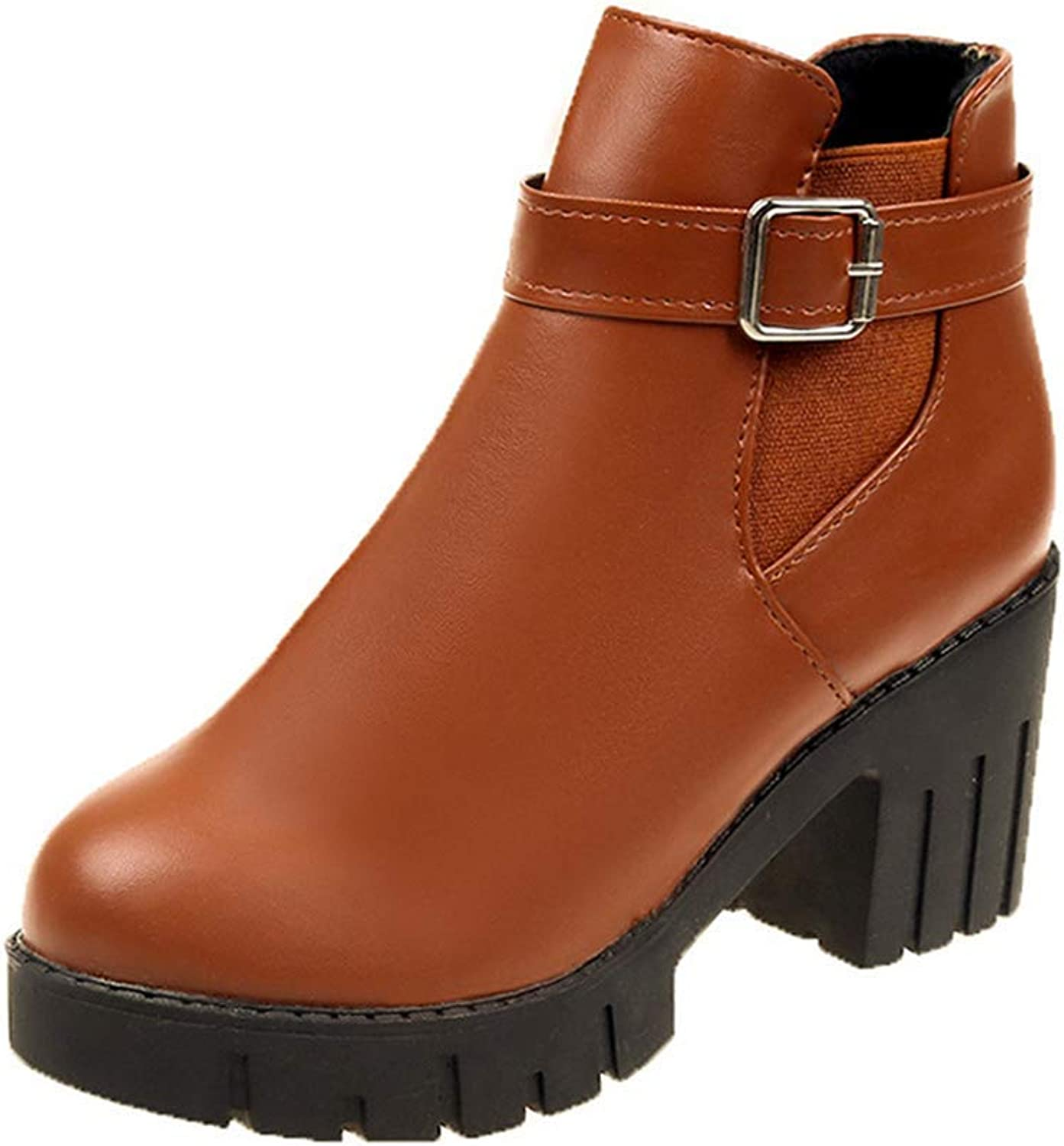Women's Detachable Buckle Ankle Rain shoes Anti Slip Short Elastic Slip On Waterproof Chelsea Boots