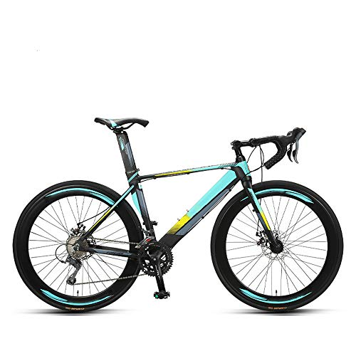 CuiCui Neue Marke Rennrad 16-Gang-Fahrrad 700CC Rad Aluminiumlegierung Rahmenbruch Wind Racing Leichtgewicht,A1