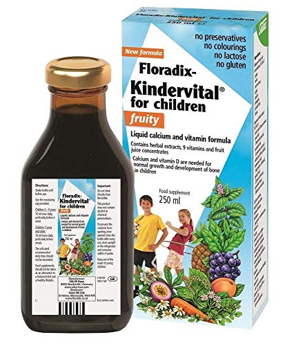 THREE PACKS of Floradix Kindervital Fruity fo Children 250ml