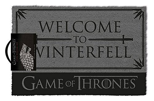 empireposter Game of Thrones - Welcome to Winterfell - Fußmatte, Größe: 60 x 40 cm, Material Kokosfaser