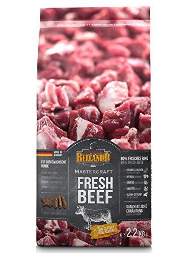 Belcando Mastercraft Fresh Beef [2,2kg] Trockenfutter für Hunde | 80% Frischfleisch | Hundefutter getreidefrei | sortenrein | für alle Rassen