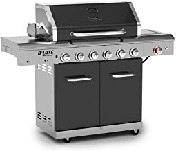 Deluxe 6-Burner Gas Grill with Searing Side Burner in Slate
