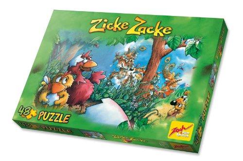 Zoch 601105002 - Zicke Zacke Puzzle - Gefederter Fuchs, 48-teilig
