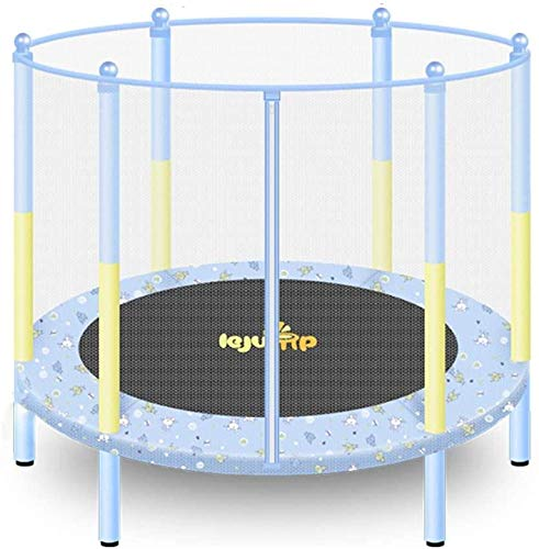 XLYAN Trampoline Combo, Bounce Jump Bed, Outdoor Jumper Trampolines for Family School Entertainment with Safety Enclosure Net, Spring Pads,A-55 Inch