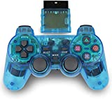 Wireless Controller for PS2, 2.4G Dual Vibration...