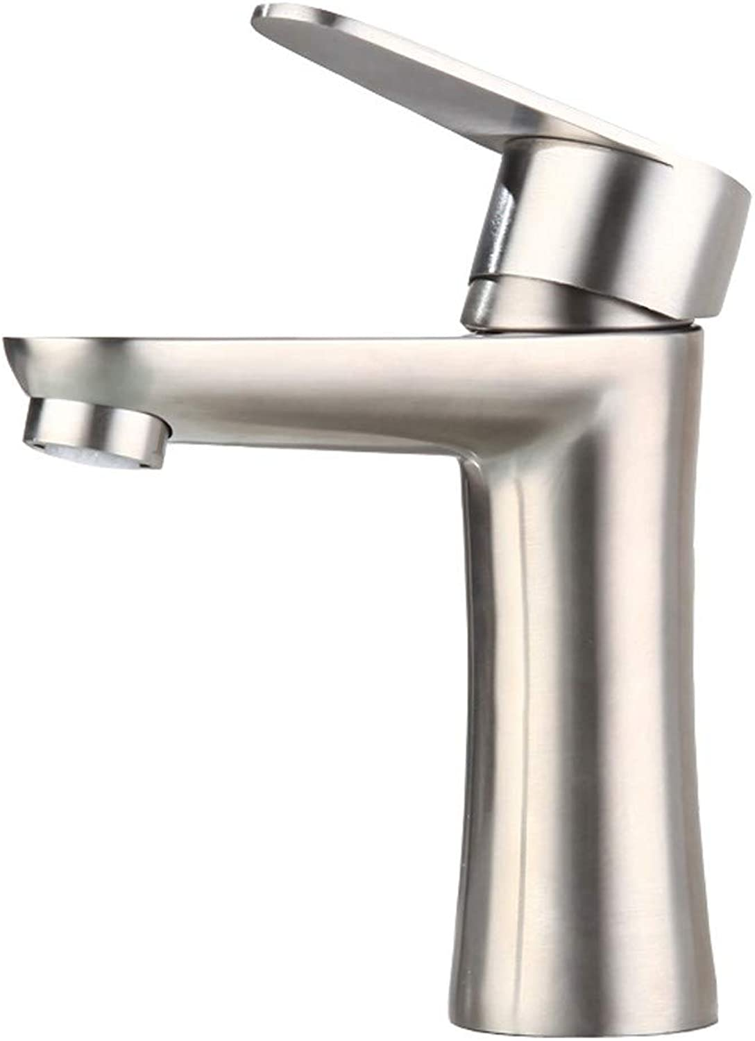 Bathroom accessories, easy to use and user-friendl Faucet, 304 Stainless Steel Hot And Cold Faucet Bathroom Washbasin Faucet Single Hole XIAHE