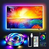 Tira LED USB 2M, Tasmor Luces LED Dream Color TV Retroiluminación RGB+IC con Control Remoto, Control APP, 213 Modos 16 Millones de Colores DIY para Television y Monitores de 32-55 Pulgadas