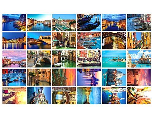 Reise-Postkarten, Set mit 30 Postkarten, verschiedene Postkarten, 10 x 15 cm Venedig