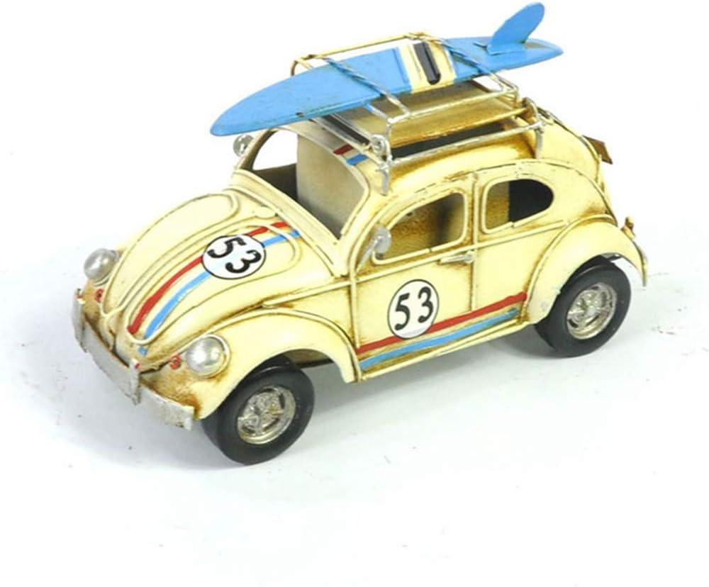 Time sale KCH Handicraft Car Model Retro Tin Stora Beetle Pen Plate Ranking TOP11 Holder