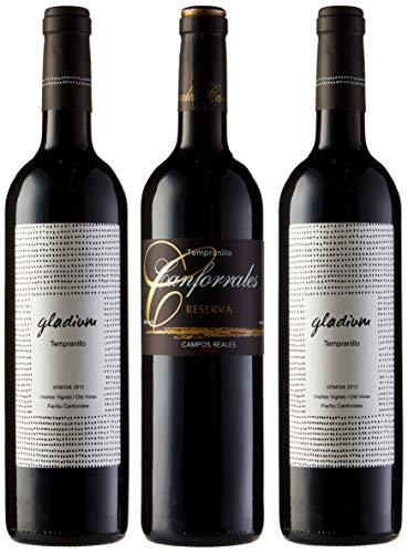 Canforrales Pack de Vino Viñas viejas - 3 botellas x 750 ml - Total: 2250 ml