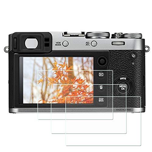Screen Protector For Fujifilm X100F X-E2S X100T X-E2 X-100F XA1 XA2 digital SLR cameras, 3 Pack ZLMC tempered glass LCD screen Protector