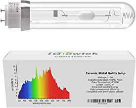 iGrowtek 4 PACKS 1000W Double Ended HPS Grow Light Bulb,High PAR Enhanced Red and Orange Spectrums CCT 2000K Ultra Bright 155000 Lumens,1000W High Pressure Sodium Grow Lamp,1000 Watt DE HID Grow Bulb
