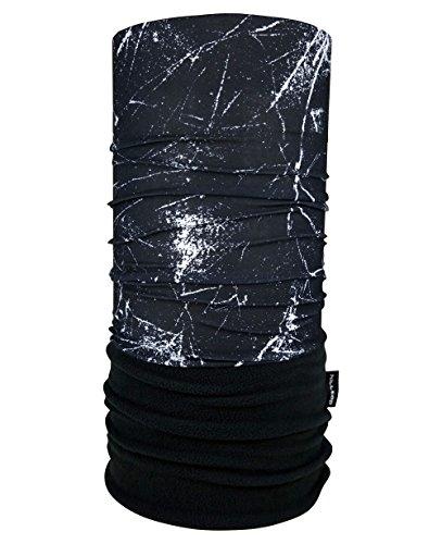 WÄRMENDES FLEECE Multifunktionstuch Polar Schlauchtuch das Halstuch für kalte Herbst und Wintertage. aktuelle Farben, Farbe Polar Tuch:weisse Streifen