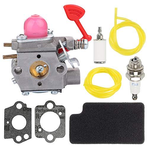 Fuel Li 545081855 Carburetor for Poulan Pro BVM200C P200C Husqvarna GBV325 P325 Craftsman 25Cc Blower Walbro WT-875A Carb with 545116801 Air Filter Tune-Up Kit