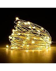 Wandskllss Buiten Lichtslingers 8 modi Ledlampen Lichtketting voor Buiten Lichtslingers Fairy Waterdicht Warmwit Decoratie Lichtketting voor Feest, Tuin, Bruiloft, Patio, Party, Kerstversieringen
