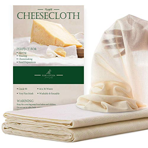 Cheesecloth Grade 90-100% Unbleached Cotton Fabric...