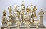 Juego de 12 figuras de panteón olímpico griego, 16 cm