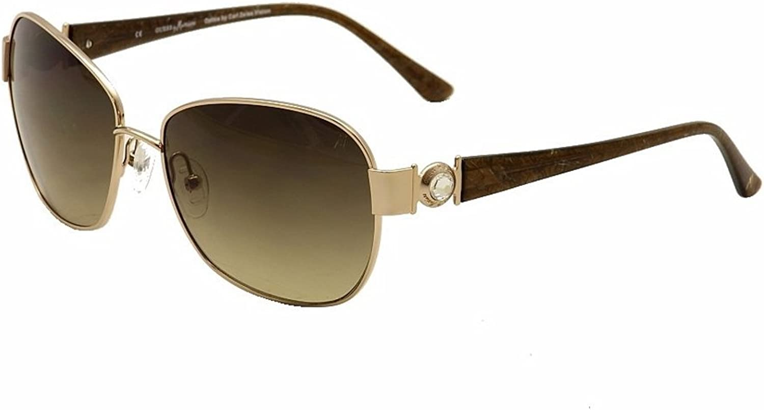 Marciano by GUESS Women's Metal Square Sunglasses GM681 60mm gold
