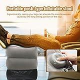 raspbery Almohada inflable de viaje de altura ajustable para pies durante el viaje en tren Vuelos de larga distancia pleasure