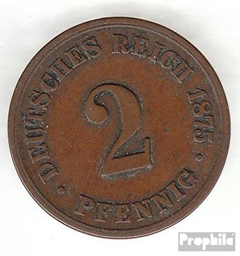 Deutsches Reich Jägernr: 2 1875 F schön Bronze schön 1875 2 Pfennig Kleiner Reichsadler (Münzen für Sammler)