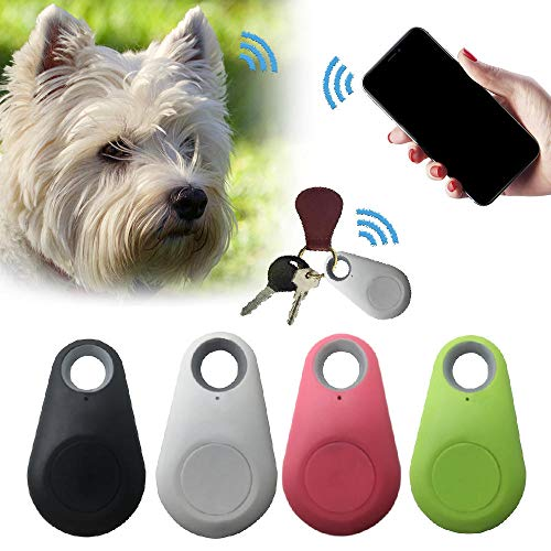 'N/A' DWQ Pet - Rastreador inteligente con GPS, antipérdida, resistente al agua, Bluetooth, rastreador para mascotas, perro, gato, llaves, cartera, bolsa para niños, color azul