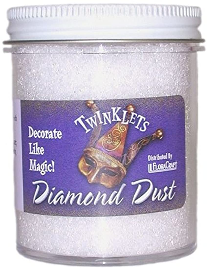 FloraCraft Diamond Dust Glitter 6 Ounce Clear Glass