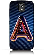 HTC Desire 526G plus TPU Silicone Case with Chrome Night Letter A Design