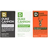 Duke Cannon Big Brick of Soap for Men 3 Bar Variety Set: Productivity, Accomplishment & Big Ol' Brick of Hunting Soap