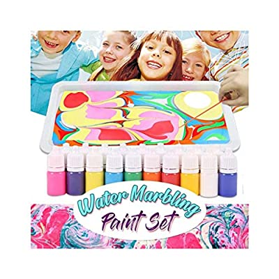 Marbling Painting Kit,Marbling Art for Beginners , DIY Paper Marbling,Non-Toxic,Painting on Water, Creative Marbling Art for Children,Perfect for Craft Lovers (Multicolor)