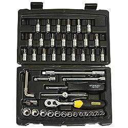 STANLEY STMT72794-8-12 1/4'' Square Drive Metric Socket Set -46pcs,Stanley,STMT72794-8-12,10mm socket,12mm socket,14mm socket,17mm socket,19mm socket,20mm socket,21mm socket,22mm socket,23mm socket,24mm socket,6mm socket,8mm socket,Drive metric socket,Hex bit scoket set,Socket set,Stanley socket set,chrome socket set,half inch socket,metal socket,sockets
