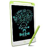 Richgv® Tableta de Escritura LCD de 10 Pulgadas,Tablero Negro Inteligente Juguetes de Aprendizaje Tablero de Dibujo Electrónico Escritura a Mano y Doodle Pad para Niños y Adultos (10 Pulgadas, Verde)