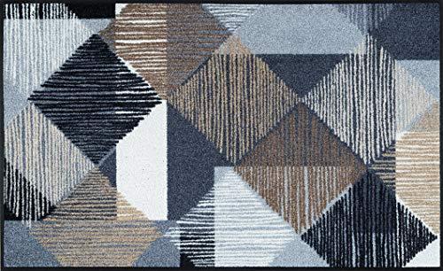 Wash + Dry Fußmatte, TC_Steel Blue 40x60 cm, innen und außen, waschbar
